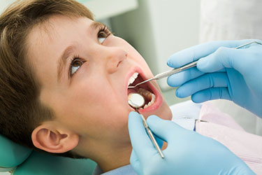 Boy at the Dentist - Pediatric Dentist in Portland, Beaverton and Lake Oswego, OR